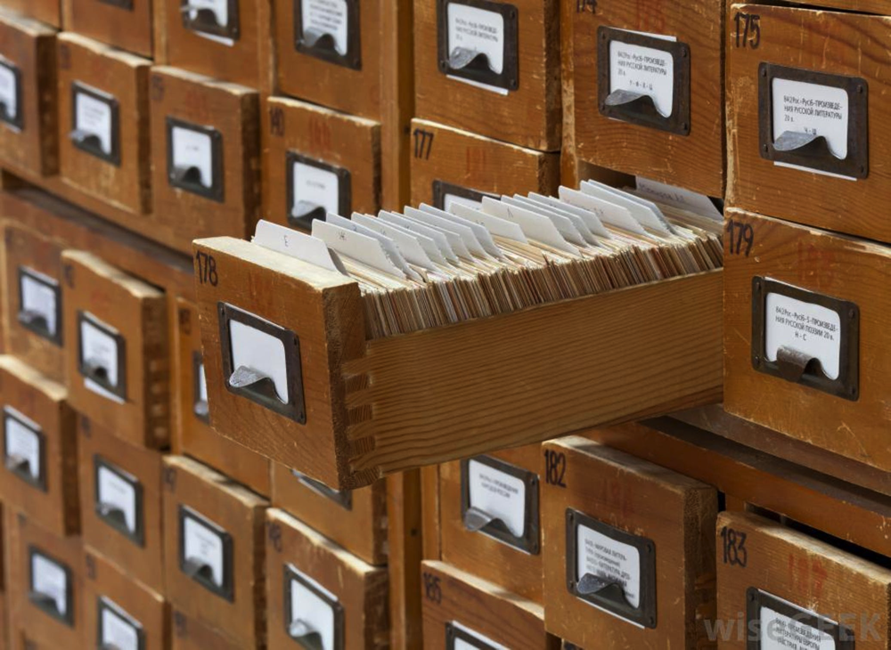 Image of library card catalog