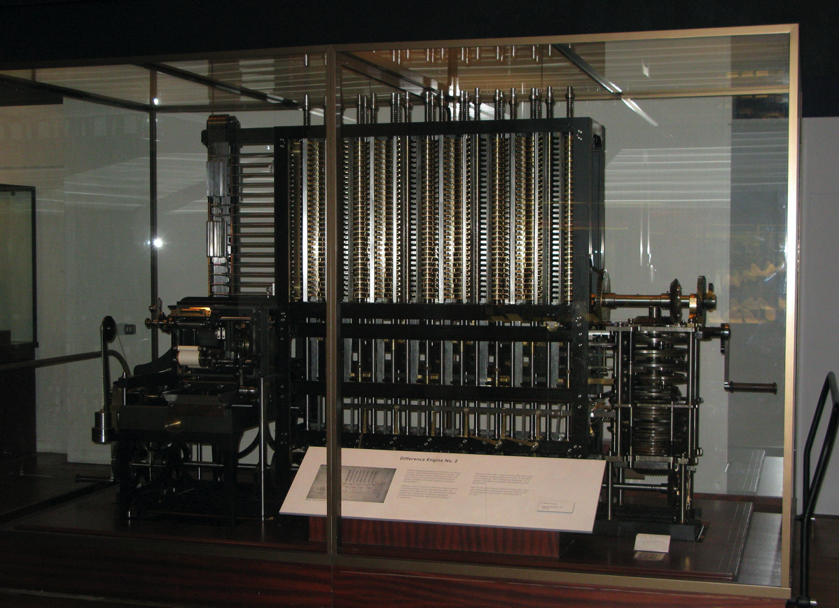 Image of the London Science Museum's difference engine